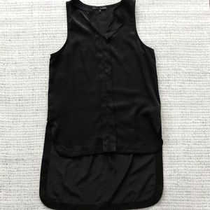 Hi-Low cut black tank